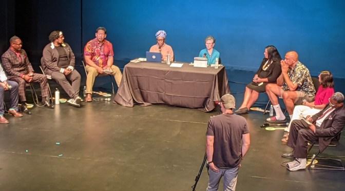 Screenshot of the mayoral arts forum via Mark Van Streefkerk.