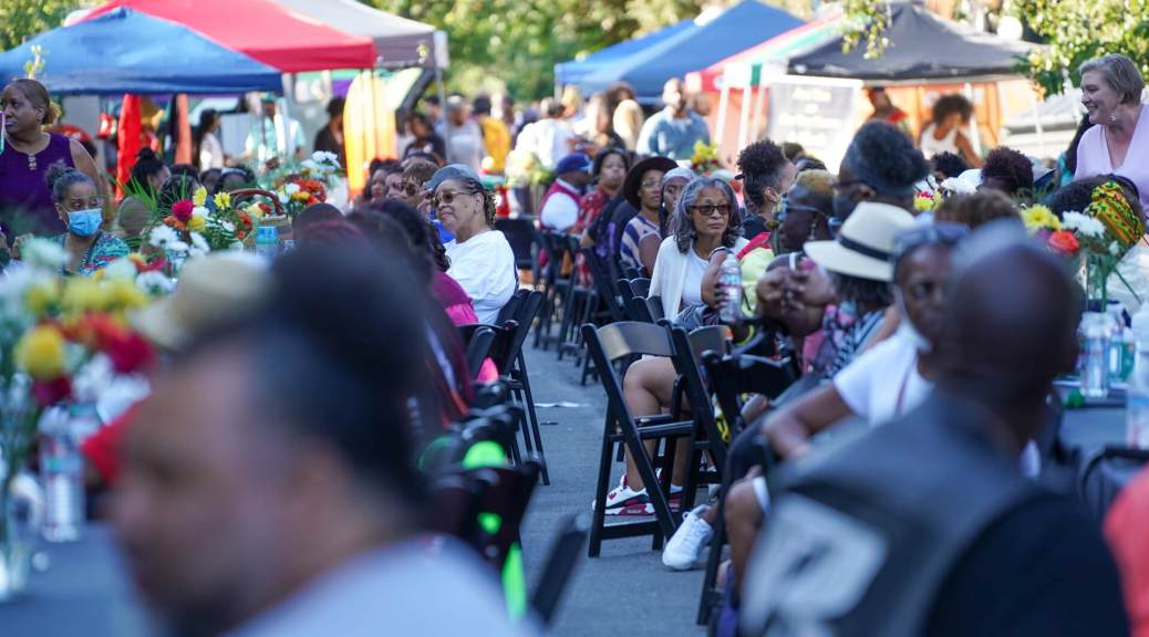 Hundreds of current and former Central District families, many forced to leave due to gentrification, gathered on Saturday, July 17, 2021, for the second Annual Reunion on Union Community Dinner and Block Party.