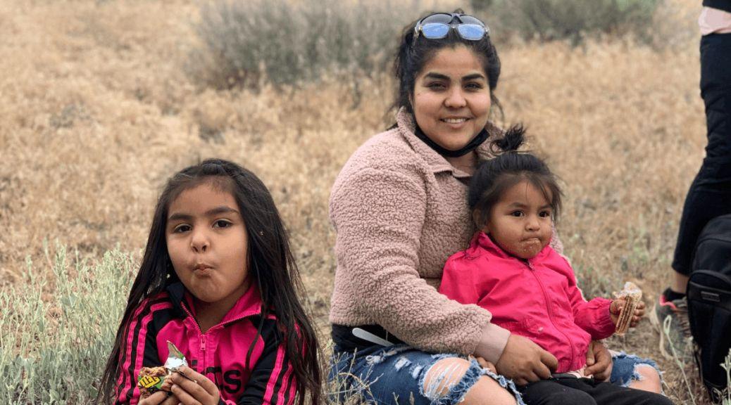 A Latino family enjoys the outdoors. Team Naturaleza took several Latino families to Quincy Lakes Wildlife Reserve on May 22, 2021. (photo courtesy of Team Naturaleza)