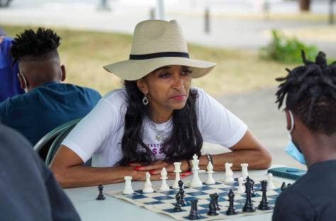 """SPD Detective Denise """"Cookie"""" Bouldin plays chess"""
