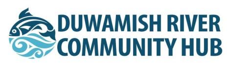 Photo of the Duwamish River Community Hub logo.