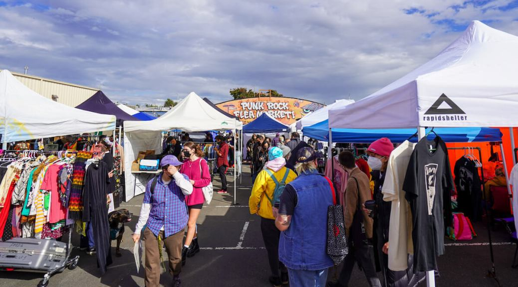 Hundreds of people showed up to shop from over a hundred vendors at the Punk Rock Flea Market September 18th and 19th in White Center. (Photo: Susan Fried)