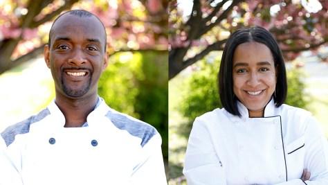 Headshots depicting Aaron Smith and Emme Collins