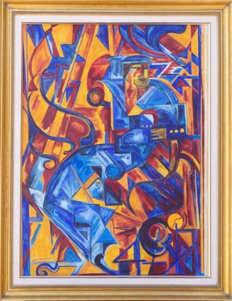 Photo depicting 'Parisian Cubism' artwork by Hale Woodruff.