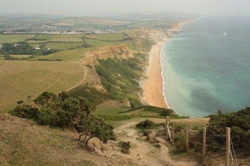 view from Golden Cap in Dorset