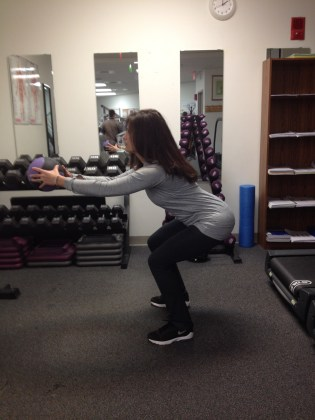 Medicine Ball Squat and Front Arm Raise End Position First Commercial BreakIMG_1095