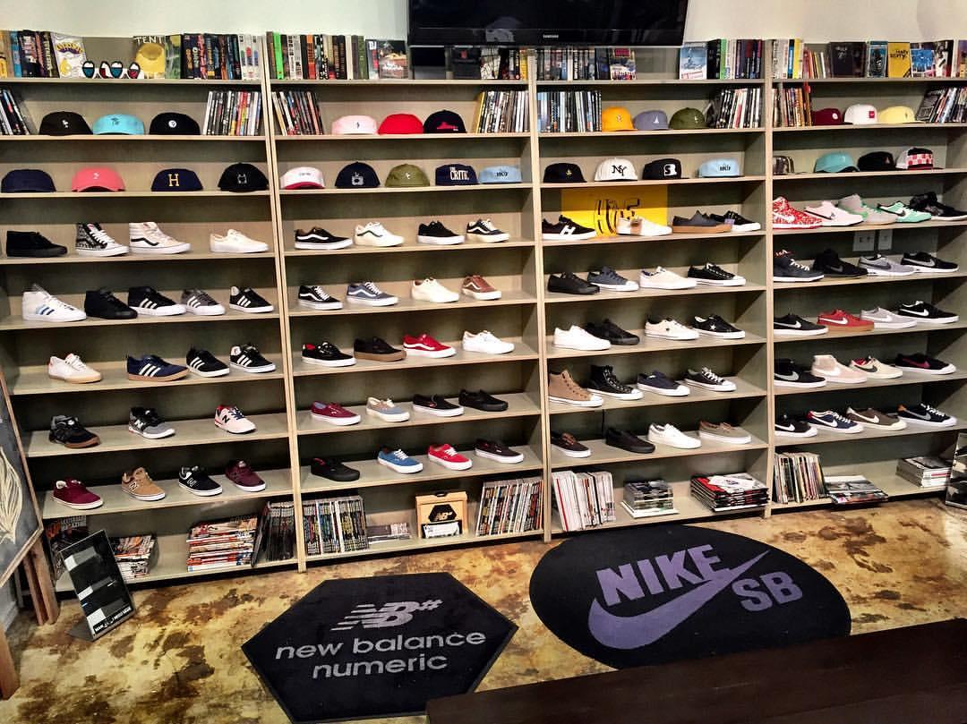 Southside Skateshop Westheimer Houston Texas Shoe Wall