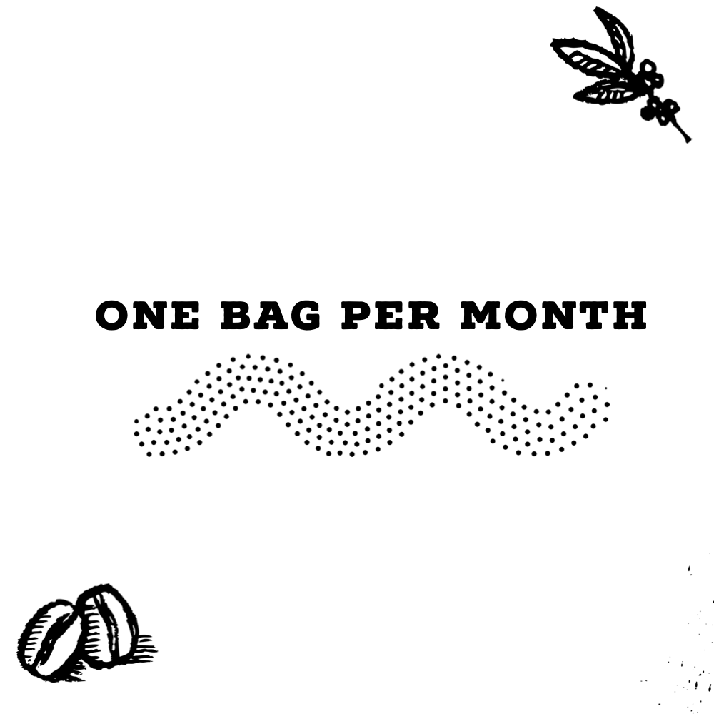 Subscription of one bag of coffee per month
