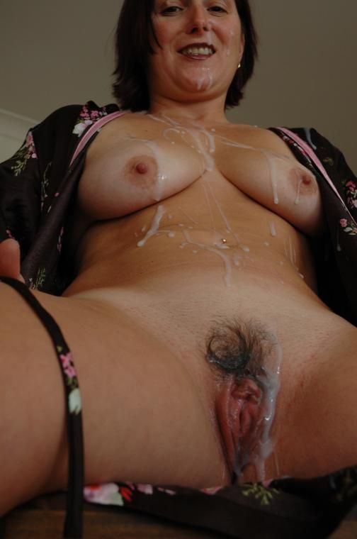 Cum Covered Wife