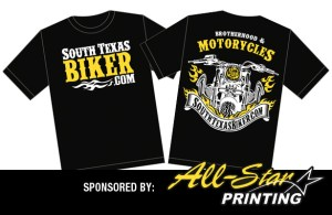 SouthTexasBiker.com Official T-Shirt Sponsored by All-Star Printing