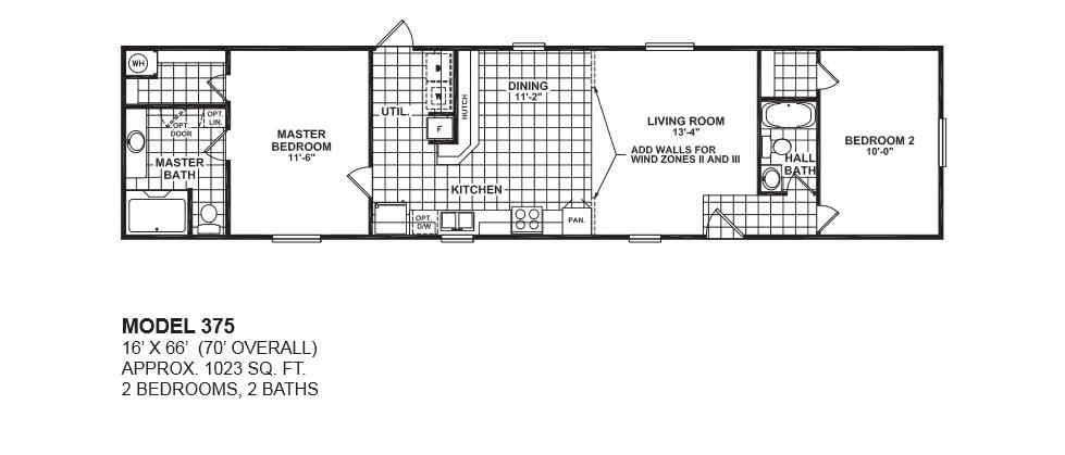 3 Bedroom 2 Bath Mobile Home Floor Plans  bedroom 2 bath apartment