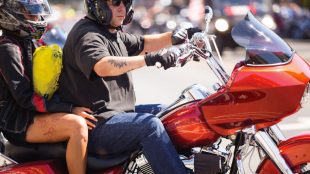 Hollister Independence Rally rider with passenger