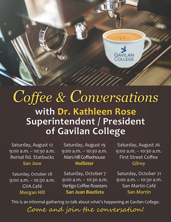 gavilan college map with Coffee And Conversation 5 on Mh area further Vta Map moreover 2461273708 further Nicolette ceja furthermore Gilroy California Map.