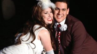 RIGHT LOVE Emily Hansen and Andy Gonzalez playing young Sally and young Buddy in 'Follies'. Playing through Oct. 7 at SVCT.