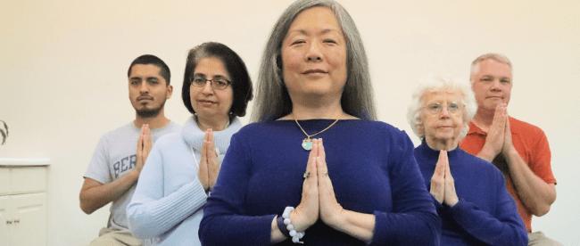 meditating at blue lotus