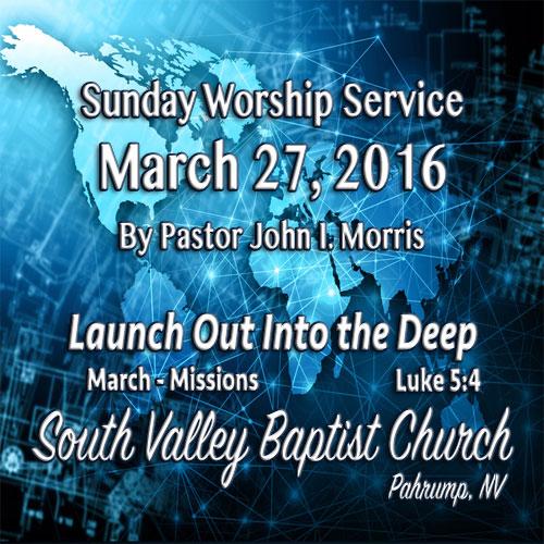 March 27 2016 Sermon