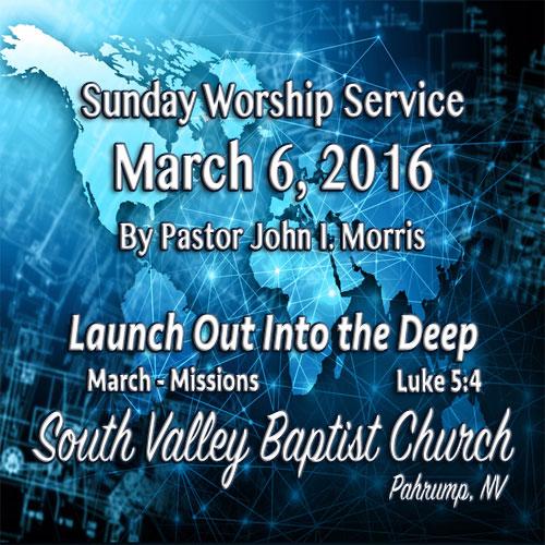 March 6 2016 Sermon