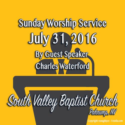 July 31 2016 Sermon One