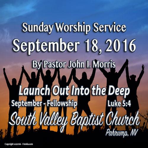Sept 18 2016 Sermon