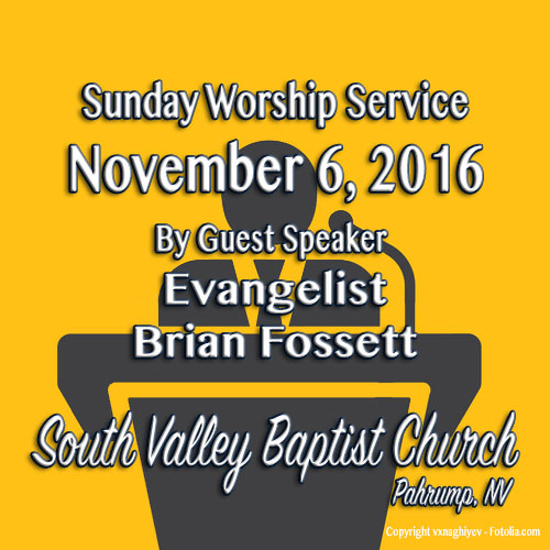 Nov 6 2016 Morning Service
