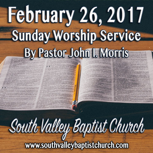 Sermon Feb 26 2017