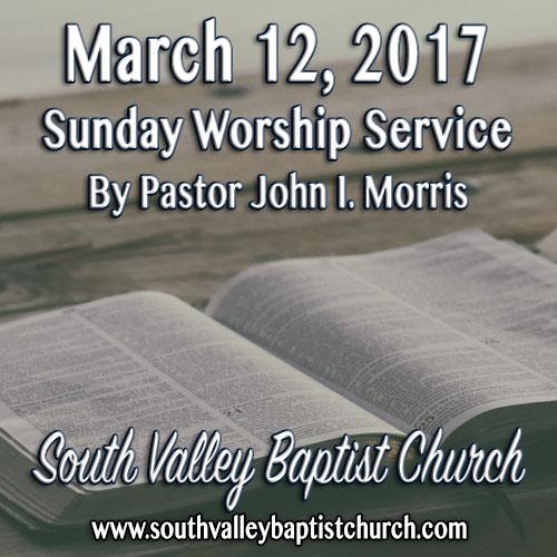 Sermon March 12 2017