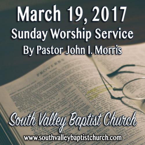 Sermon March 19 2017