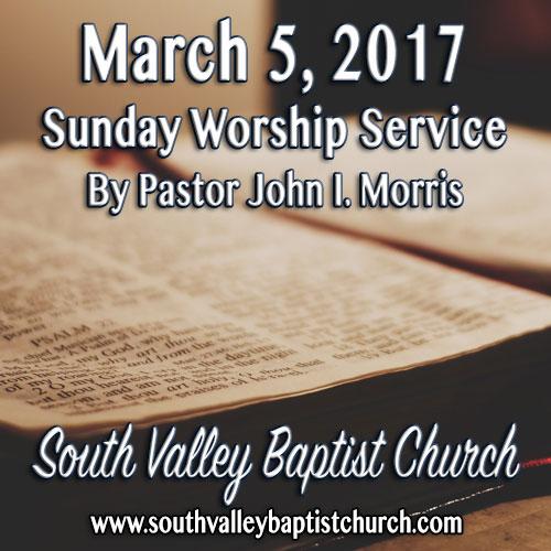 Sermon March 5 2017