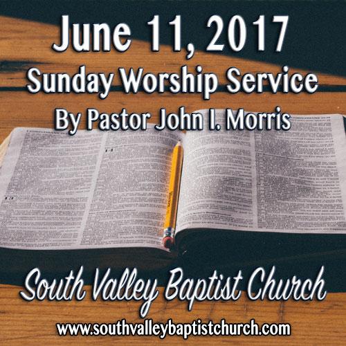 Sermon June 11 2017