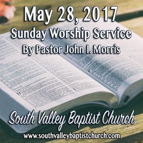 Sermon May 28 2017
