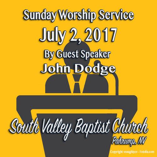 Sermon July 2 2017