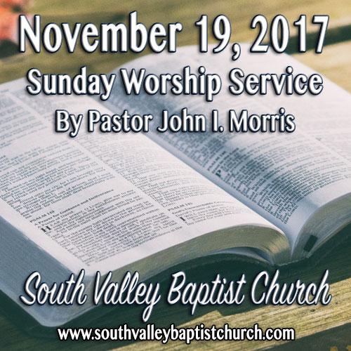 Sermon November 19 2017
