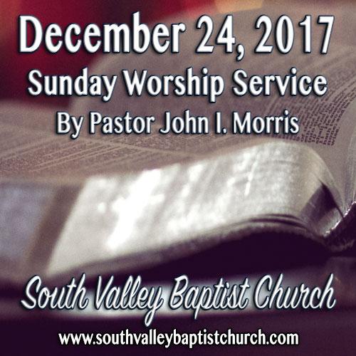 Sermon December 24 2017