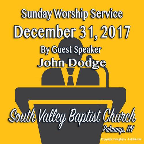 Sermon December 31 2017
