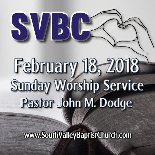 2018 Sermon February 18