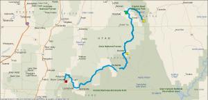 Gereden: 240 km.