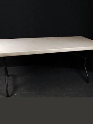 "Trestle Table 6' x 2' 6"" ( Seats 6 )"