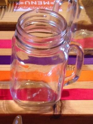 RETRO VINTAGE HANDLED JAM JAR MASONS GLASS 16oz/450ml
