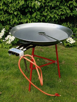 PAELLA CATERING SET - 90cm PAN & STAND