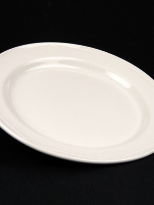 DESSERT PLATE White Crockery Hire