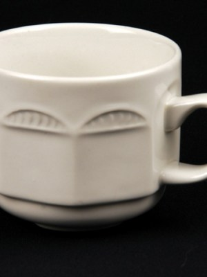 TEA / COFFEE CUP WHITE CROCKERY HIRE