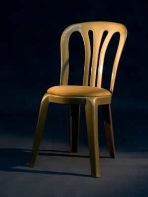 Gold Miami Chair with Gold Round Seat Pad