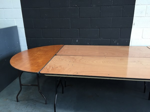 Oval Top Table Hire 2