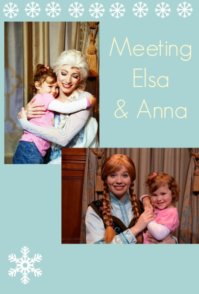 Maggie meets Anna and Elsa