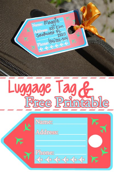 Luggage Tags Free Printable