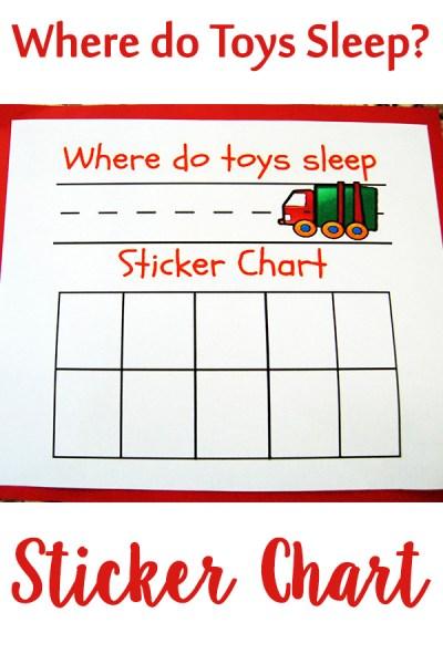 Where Do Toys Sleep Sticker Chart