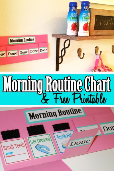 Morning Routine Chart and Free Printable!