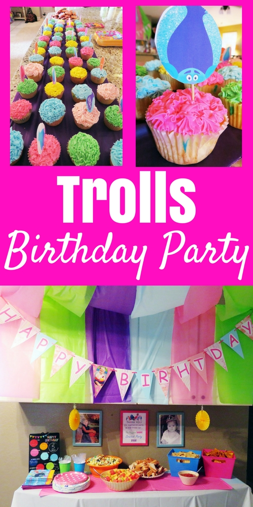 When You Think About Trolls Bright Fun And Colorful This Made Picking Food So Simple We Did Party Mix With Popcorn Melted Color