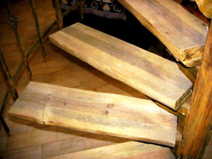 S W Wood Stairs Pine Slabs Spiral Wood Stairs Hand Peeled Raing | Rustic Wood Stair Treads | Indoor Stair | Wood Plank | Interior | Reclaimed Wood | Carpet