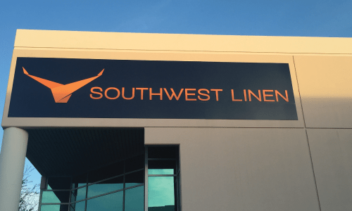 Southwest Linen Building Sign